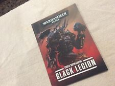 WAR HAMMERS 40K GAMES WORKSHOP BLACK LEGION CODEX SUPPLE BOOK WAR HAMMERS S/B