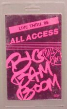 Hall & Oates backstage pass OTTO Laminated Tour '85 Big Bam Boom All Access