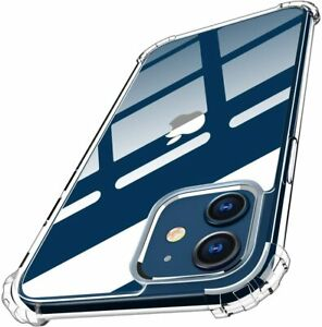 Clear Cover Case for iPhone 11 12 Mini Pro Max SE 2020 Transparent Shockproof