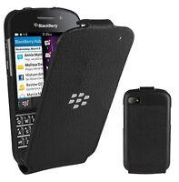 Genuine BlackBerry Leather Flip Shell Case Cover for BlackBerry Q10 - Black