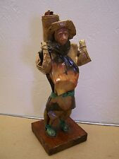 Mexican Papier Mache Worker Doll - Man with Wares on Back - Mexico