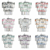 Easy Fit Ceiling Pendant Light Shades Acrylic Crystal Chandelier Lampshade Lamp