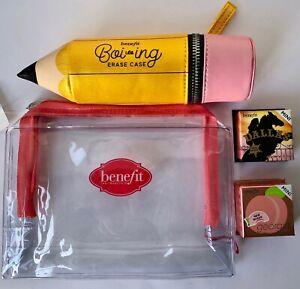 BENEFIT Boi ing Pencil Case Georgia Mini Peach Blush Dallas Mini & Make Up Bag