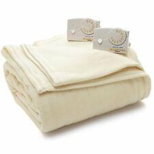 Biddeford Blanket Comfort Knit Heated Electric Blanket, Queen Natural Color