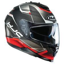 HJC IS-17 Loktar Red IS 17 Full Face Motorcycle Helmet with in built sunvisor ZE