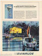 PUBLICITE ADVERTISING 105  1965  EVINRUDE   moteurs de bateau  hors-bord