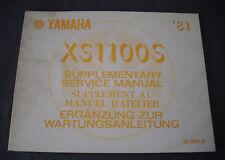 Yamaha XS 1100 S 1981 Wartungsanleitung Ergänzung Supplement Service Manual