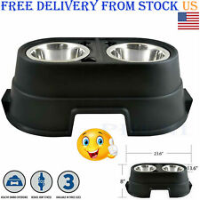 8-inch Double Comfort Feeder Healthy Pet Diner Raised Dog Bowls Elevated Durable