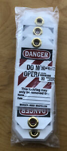 """Brady """"Danger - Do Not Operate - Unauthorized Removal..."""" Tag (Pack of 25)"""