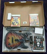 GUITAR HERO WORLD TOUR GUITAR BUNDLE - MICROSOFT XBOX 360 - INC 2 SEALED GAMES