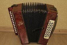 Bayan Button Chromatic Accordion Kuban made in USSR Soviet VINTAGE