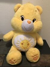 FUNSHINE Care Bear JUMBO PLUSH Yellow Sunshine Carebear 2015