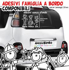 Adesivi sticker FAMIGLIA BIMBO A BORDO, per auto, camper, moto