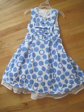 Girl TCP LIGHT BLUE WHITE POLKA DOT CIRCLES DRESS GUC 6 SPRING SUMMER