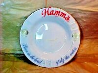 """Vintage  Hamm's Beer  """" Born in the Land of Sky Blue Waters""""  Ashtray   6 5/8"""" R"""