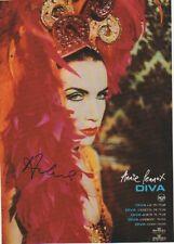 "Annie Lennox ""Eurythmics"" Autogramm signed A4 Magazinbild"