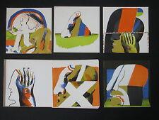 HORST ANTES , 1936 HEPPENHEIM  6 OFFSETS ( in 5 FARBEN ) 1966/67 GALERIE DEFET.
