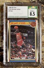 1988 Fleer Michael Jordan All Star #120 Centered Beauty CSG 8.5 MINT 🔥💎🐐🐐!!