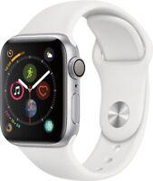 Apple Watch Gen 4 Series 4 40mm Silver Aluminum - White Sport Band MU642LL/A
