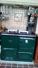 aga rayburn in dark green, gas central heating boiler and cooker