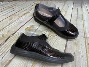 Drew Mary Jane Loafers Womens Size 7.5N Brown Comfort Orthotic Diabetic Shoes