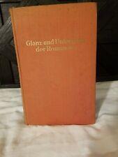 Anna Wyrubowa- Glanz und Untergang der Romanows - German - 1927 - Hardcover