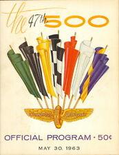 1963 47th Indianapolis 500 Official Souvenir Program Chrysler 300 Pace Car Mopar