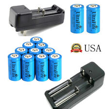 USA 16340 Battery 1800mAh CR123A Rechargeable Battery 3.7V Li-ion Smart Charger