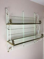 Mid century 1970's Samuel Copelon style wrought iron gilt swan wall unit