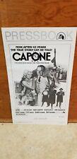 Capone 1975 Ben Gazzara Pressbook Advance Poster Guide RARE