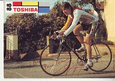 CYCLISME ** carte cycliste MARCEL GAYANT équipe TOSHIBA 88 signée