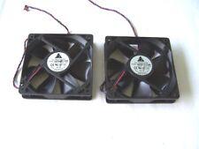 Computer Cooling Fans 120 mm. 12 VDC 0.33A Delta Case Fans Lot of 2 used OK