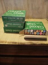 Vintage Lot Of 4 Nos Binney & Smith Inc Colored Chalk 16 Count