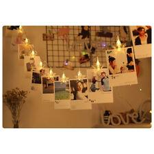 LED Stars Shaped Photo Hanging Pendant Clip String Light for Girls Bedroom Decor