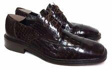 $1500+ Avventura Men's Crocodile Alligator 12 M Brown Lace Oxford Exotic Shoes