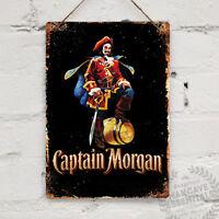 CAPTAIN MORGAN RUM Replica Vintage Metal Wall sign Retro Pub Bar Mancave Drink