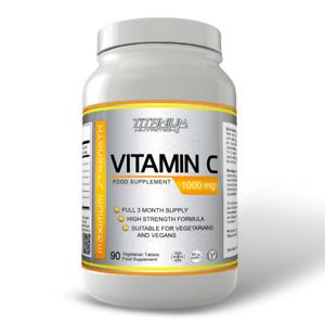 Vitamin C 1000mg High Strength Immune Support Health 90 Tablets Vegan Halal