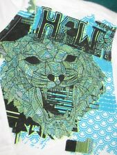Size XL Premium Tony Hawk Polo Shirt White Teal & Green Lion Design Sz XL New