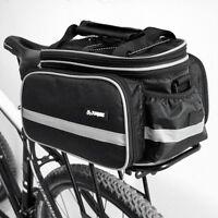 Sturdy Waterproof Bicycle Pannier Rear Seat Bag Bike Cycling Tail Rack Storage!
