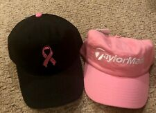 Women's Taylor Made and Lady Hagen Pink Ribbon Golf Hat LOT NWT's