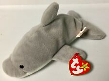 TY FLASH THE DOLPHIN BEANIE BABY~1993~STYLE 4021~Rare/Retired~NWT
