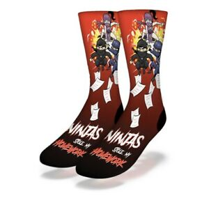 Ninja's Stole My Homework Socks New From Production Line With Tags Top Seller