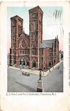 Rhode Island Ri Postcard 1906 Providence S.S. Peter's and Paul's Cathedral Gold