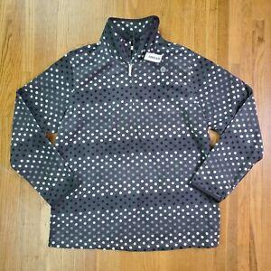Old Navy Womens Pullover Sweatshirt Sz L Polka Dot 1/4 Zip NEW NWT Sweater