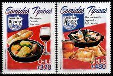 Chile 2019 America UPAEP - Chilean Typical Meals Cazuela Empanada Vino Tinto
