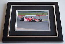 Jody Scheckter SIGNED 10X8 FRAMED Photo Autograph Formula 1 Sport Display & COA