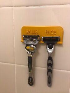 "shower razor holder GOLD ""Balls Face"" Organizer"