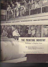 The Printing Industry No Longer a Sleeping Giant 1961 Brochure Richard Haumersen