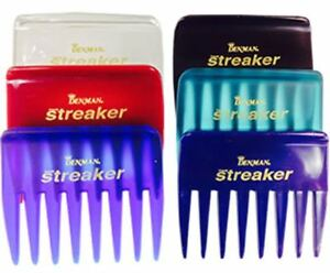 Eminence Denman Streaker BURGUNDY Red Rake Comb For All Types Of Styling Combing