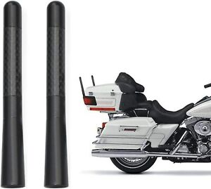 2x Motorcycle Carbon Fiber Antenna  Radio Antenna For Harley Davidson Motorcycle